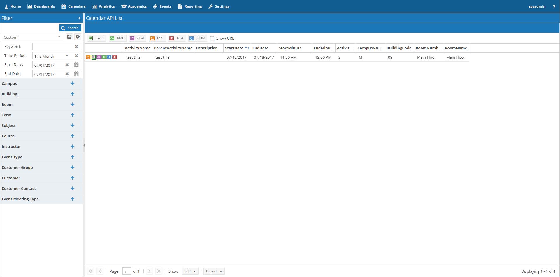 Astra Schedule Help (8 0) - Calendar API